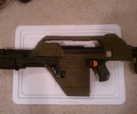 "Nerf Recon transformed into ""Aliens"" M41A Pulse Rifle"