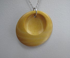 Wooden Crescent Pendant
