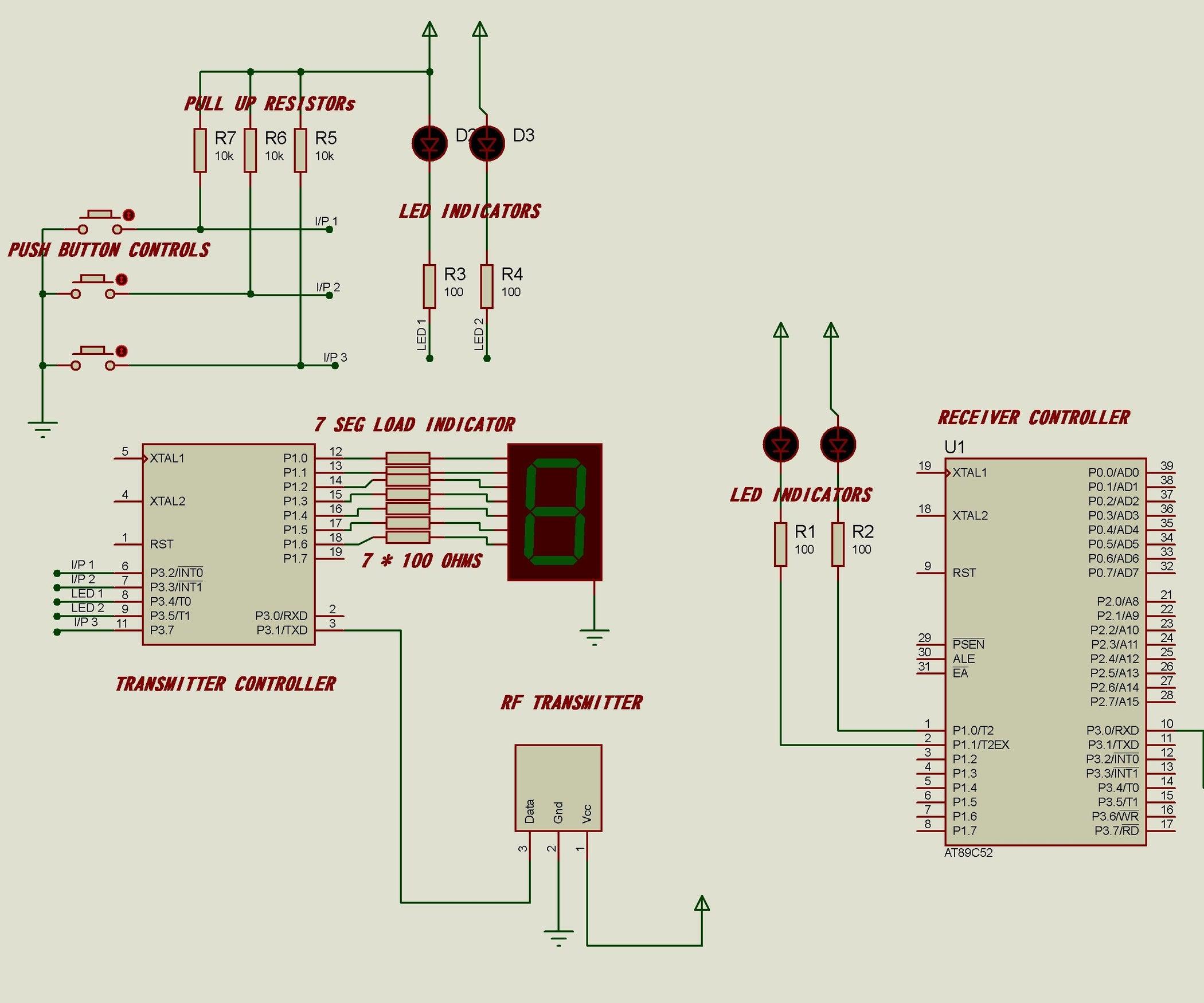Rf Module Interface To 8051 Microcontroller 6 Steps Digital Clock Using Lcd Display Mini Project