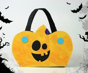Makedo Pumpkin-shaped Candy Holder
