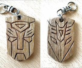 Transformers keychain/ pet collar tag