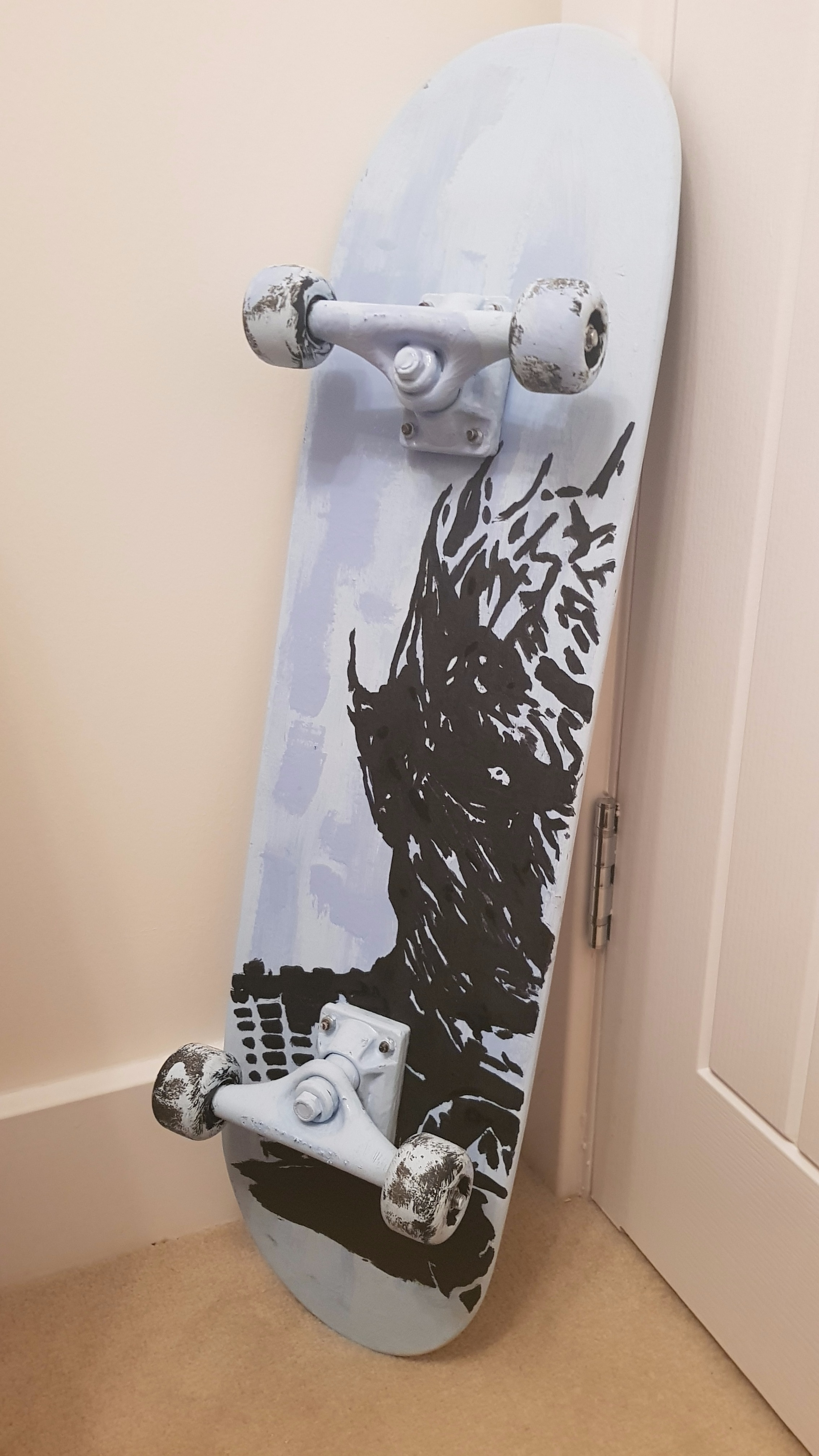 Picture of Game of Thrones Night King Skateboard Makeover