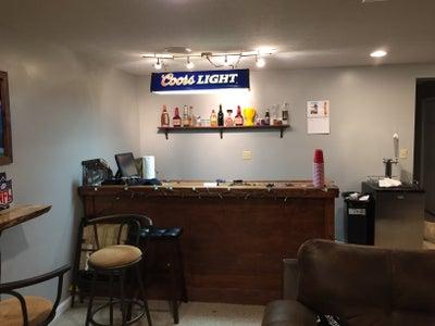 Repurposed Pool Table Light Bar Light