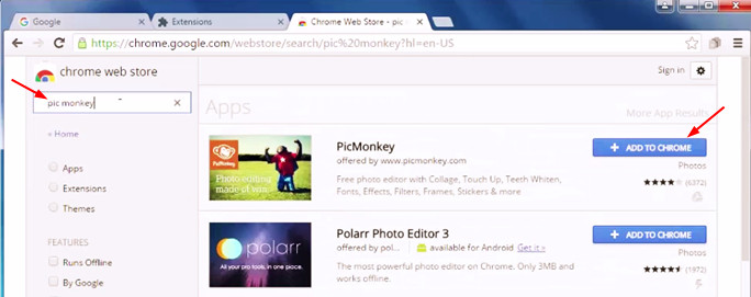 Picture of Step 1 - Install PicMonkey on Google Chrome
