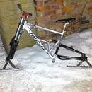 Snow ski bike
