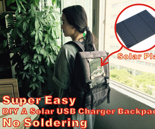 Super Easy DIY a Solar USB Charger Backpack!
