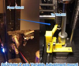 3d Printer Micro Switch Adjustment Mount