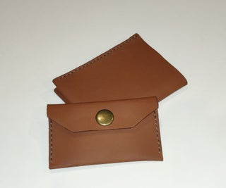 Matching Leather Card Holder and Tiny Wallet