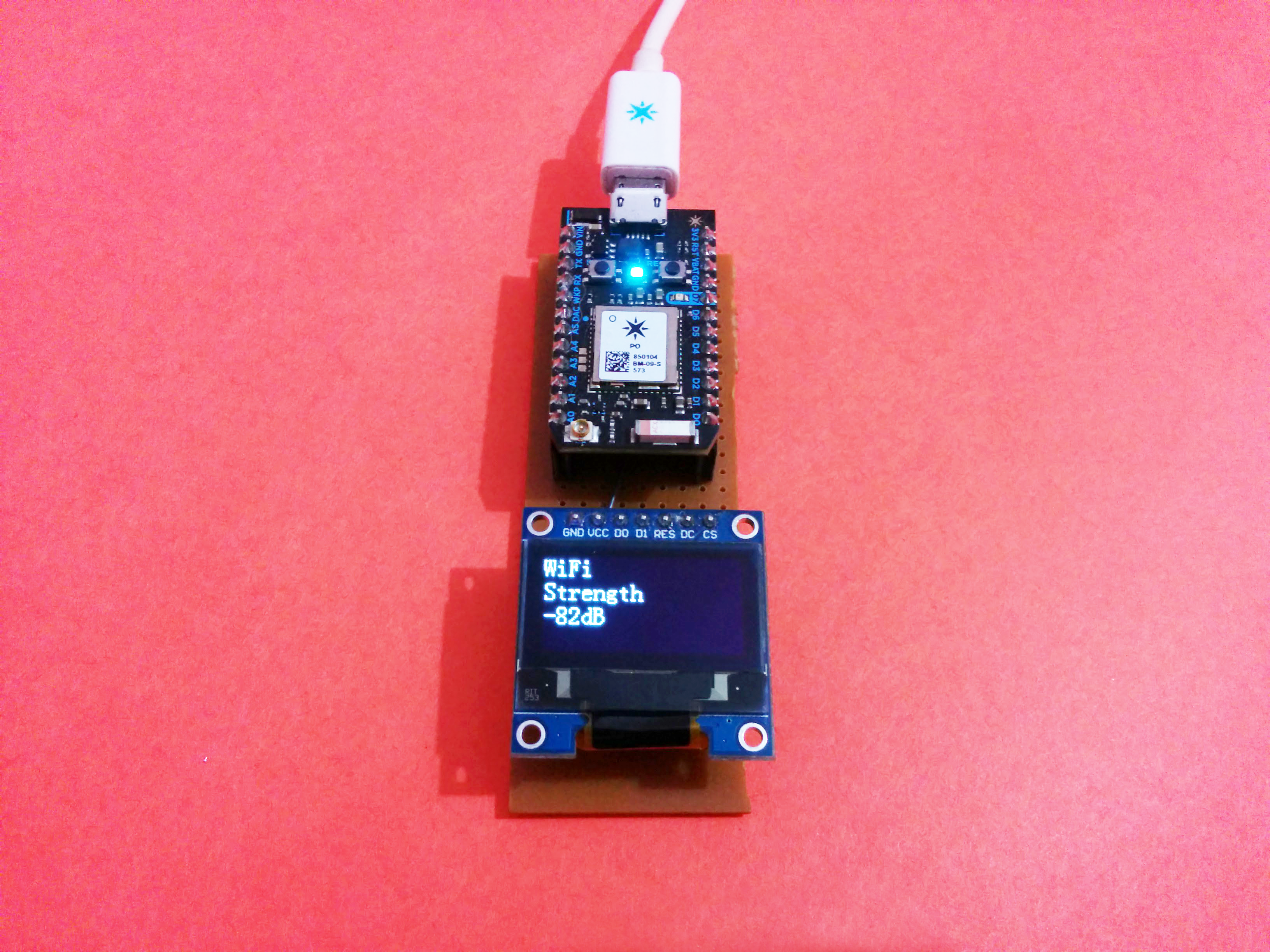 Picture of Measure Your WiFi Signal Strength Using Particle Photon