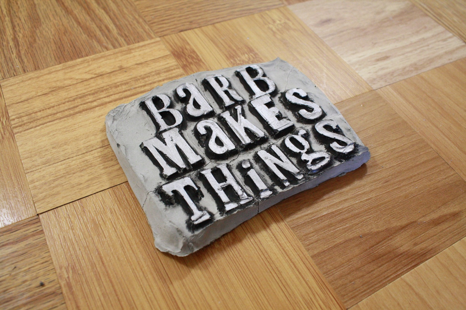 Picture of Concrete Letterpress Sign