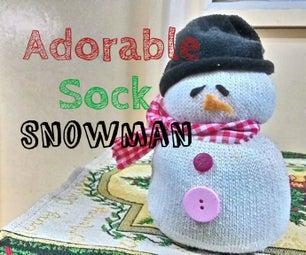 Adorable Sock Snowman