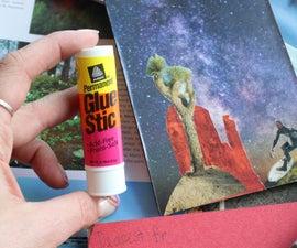 Collage Postcards Using Glue Sticks