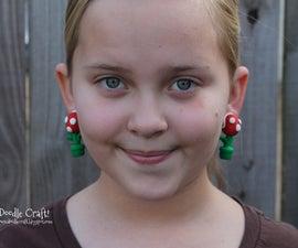 Mario Brothers Piranha Plant Earrings!