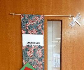 Emergency Door Curtain Organizer