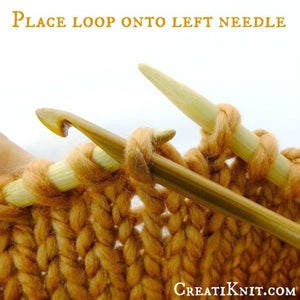 Since This in Your Final Dropped Stitch to Be Corrected, Place Loop Back Onto Left Needle