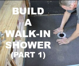 How to Build a Walk-In Shower (Part 1: Wedi Shower Pan)