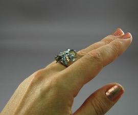 Paper Clip Flower Ring