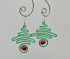 How to Make Wire Wrapped Christmas Tree Earrings With Glass Pearl Bead