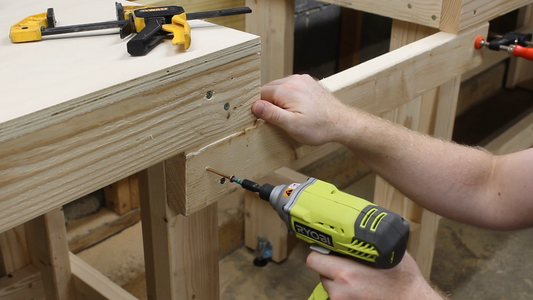 Attaching the Miter Saw Section
