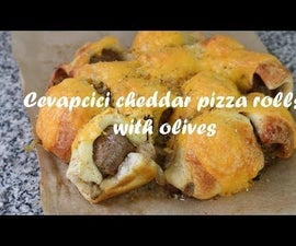 Cevapcici Cheddar Pizza Rolls With Olives Recipe