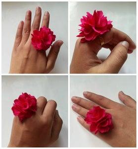 DIY Fabric Flower Ring