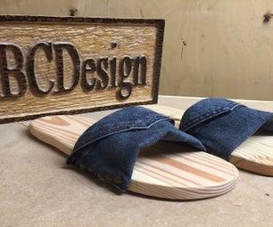 How to Make Pallet Wood & Denim Footwear