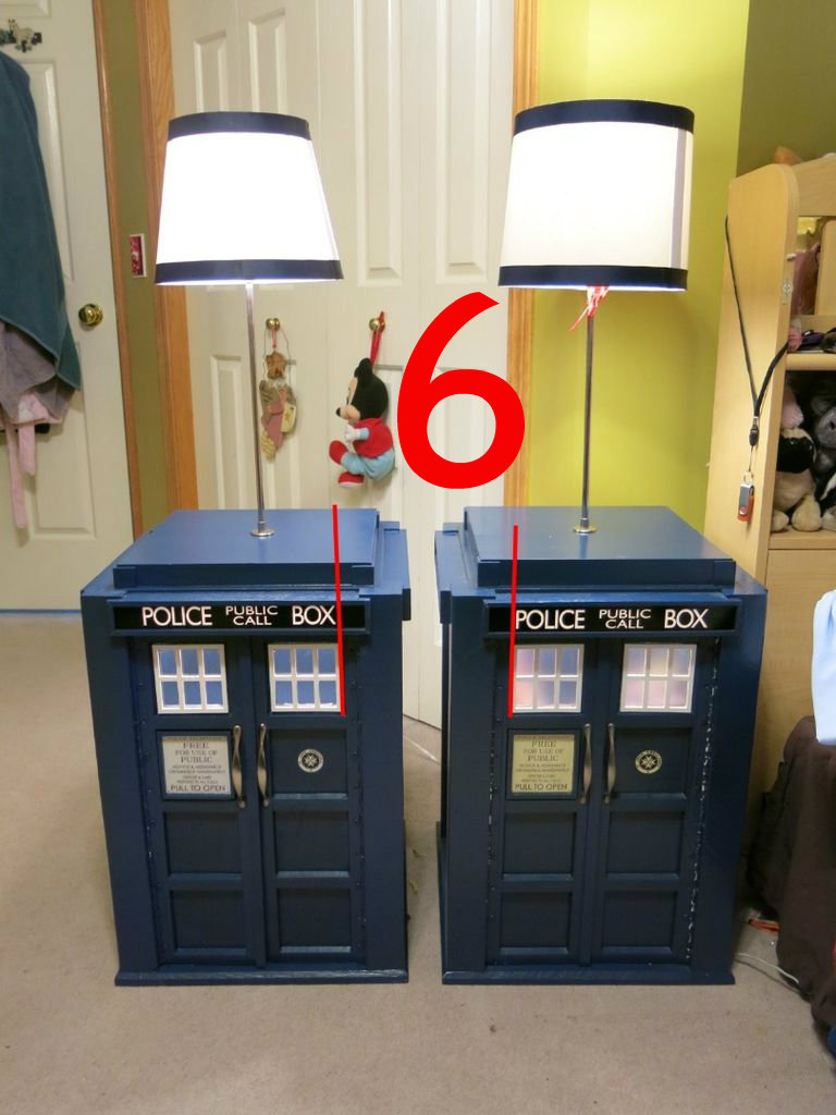 Picture of Making the 'Police Box' Signs.