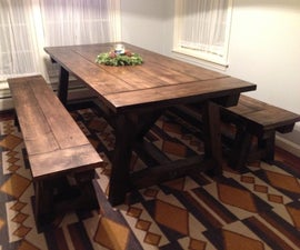 Benches for the Farmhouse table