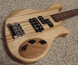 Custom Bass Guitar With Recycled Neck