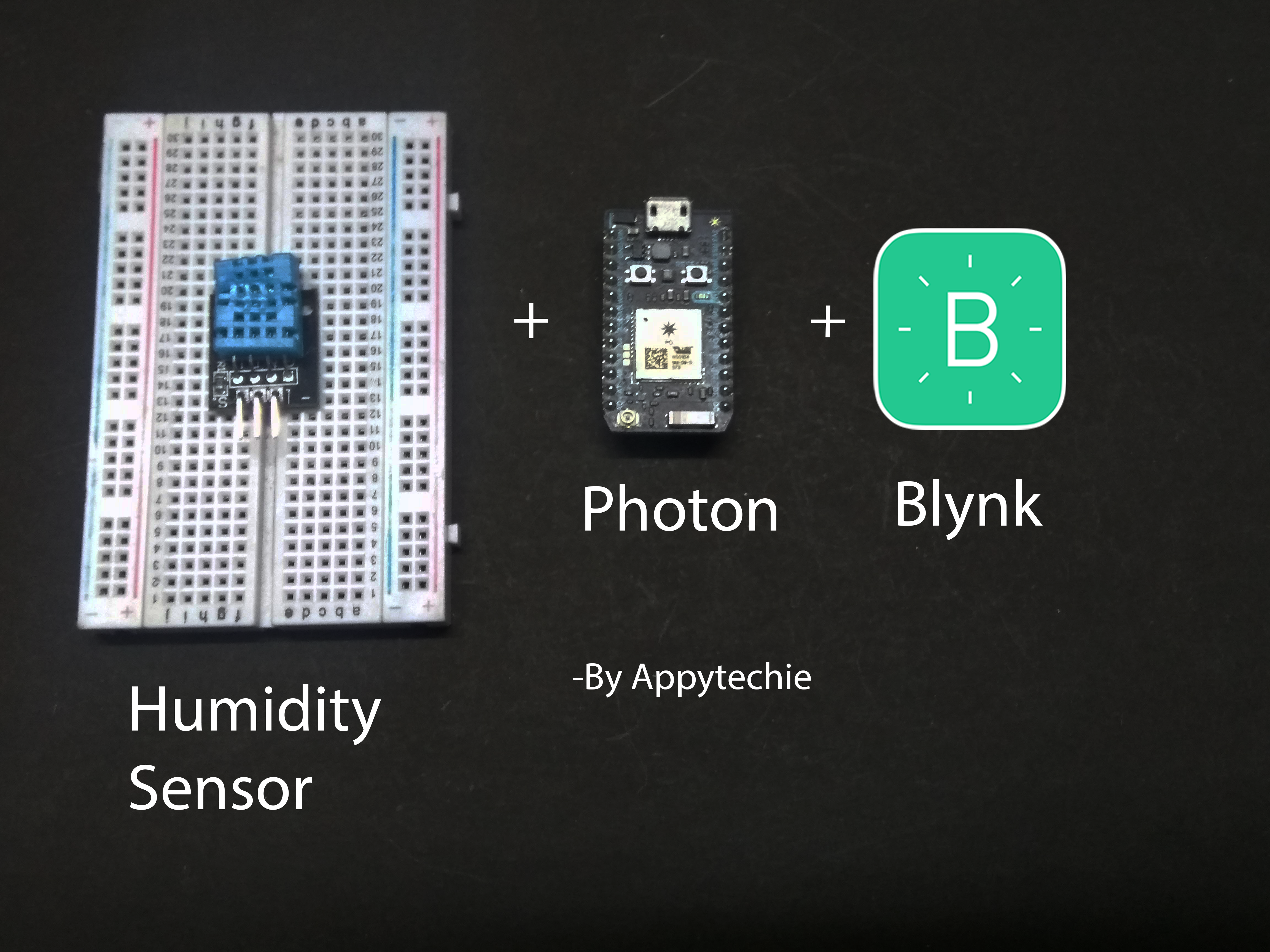Picture of Photon:Displaying Values of DHT11 Using Blynk