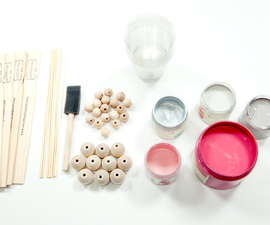DIY Painted Wooden Bead Garland With Tassels