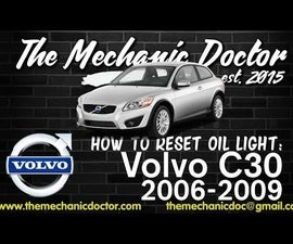 How to Reset Oil Life: Volvo C30 2006 - 2009