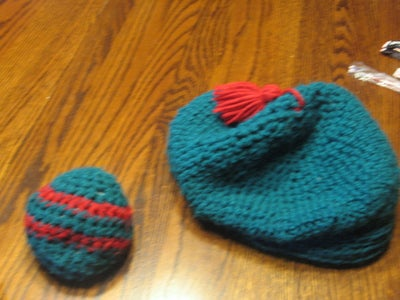 Crocheted Hat and Hackey Sack