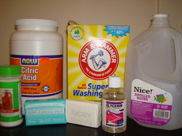 Picture of Supplies for Liquid Dish Washing Soap