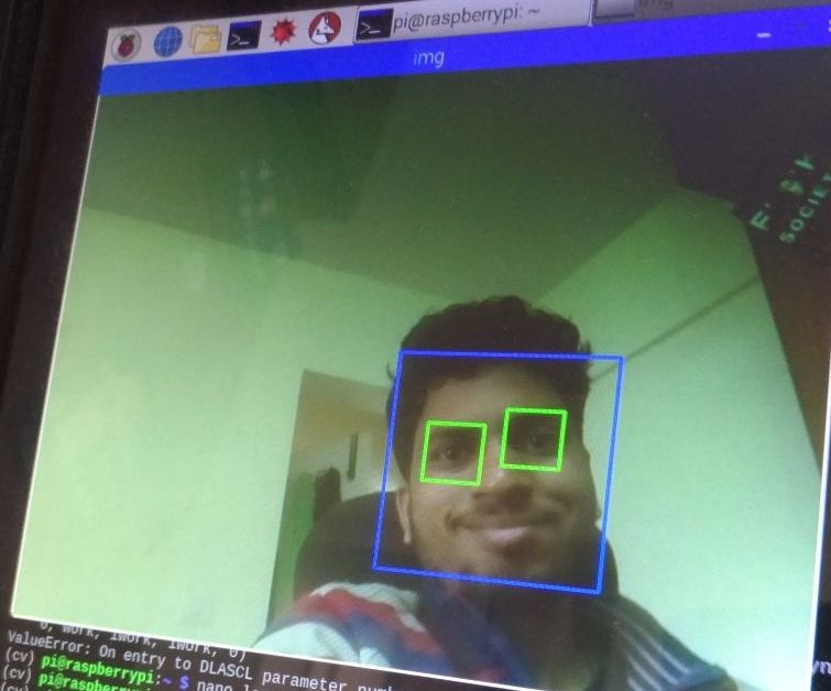 Face and Eye Detection With Raspberry Pi Zero and Opencv: 3