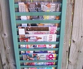 Shutter Upcycled (repurposed) into Magazine Rack