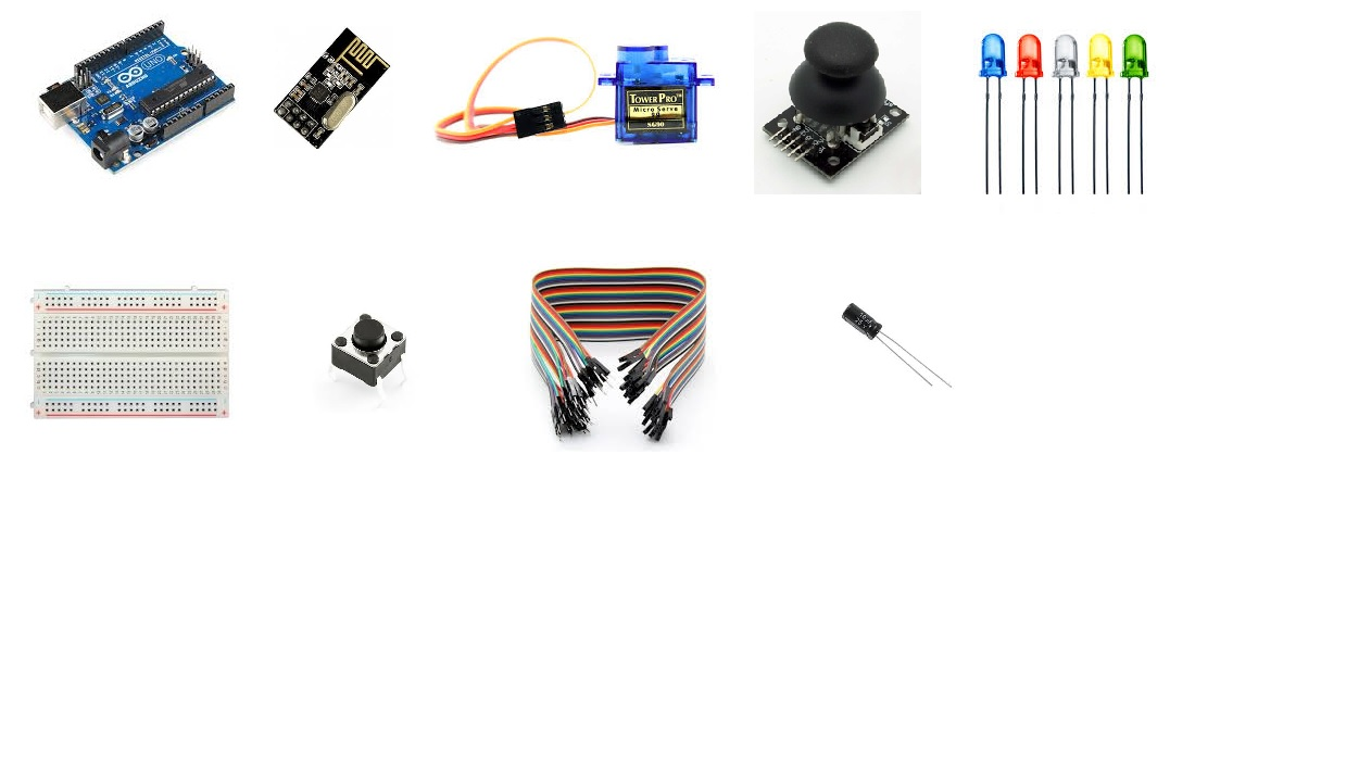 Picture of Parts Required for Remote Controller
