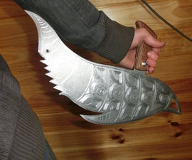 "Make A Huge, Epic Knife ""The Dolphin Blade"" For Only $8 (Small Sword)"