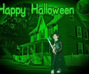 Halloween Photo Manipulation Using Pixlr