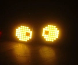 Scary Halloween Eyes With Sound and Ranging Sensor