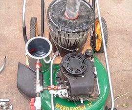 Wood burning lawnmower (experiment)