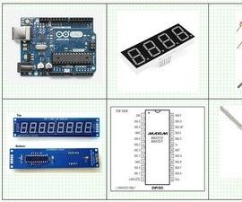 Arduino and MAX7219 - 50 Volt - Digital Volt Meter