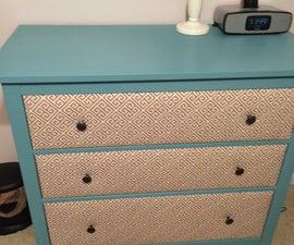Fabric Covered IKEA Hemnes Drawer