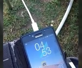 Charge Your Phone From Wind