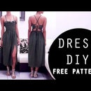 Middi dress front slit || FREE PATTERN