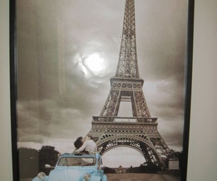 Light Up Eiffel Tower Framed Poster