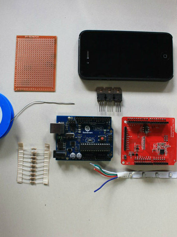 Picture of Smartphone Arduino RBL BLE Shield RGB Led Light Controller