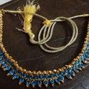 Kundan - 2$ Blue Bead Necklace!