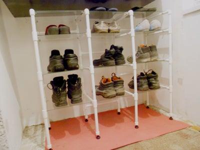 Shoe Shelves (PVC & Glass)