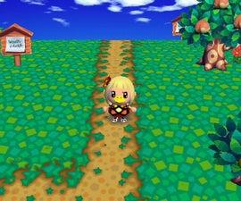 Dirt paths in - Animal Crossing City Folk (Wii)